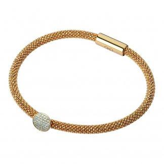 Gold Star Dust Round Bead Bracelet 5010.2483