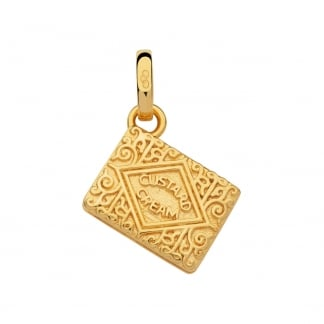Gold Vermeil Custard Cream Biscuit Charm