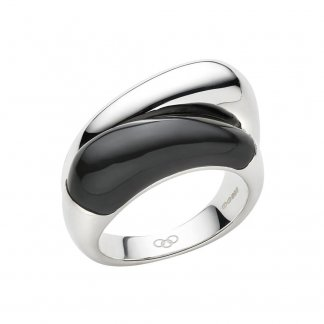 Hope Double Ring with Onyx