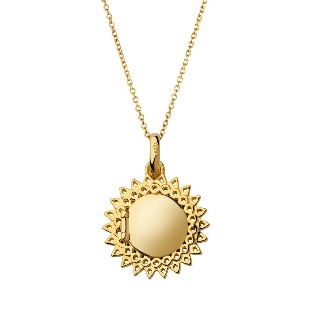 pendant gold large locket yellow northgate oval jewellers
