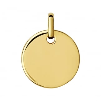 18ct Yellow Gold Vermeil Narrative Disc