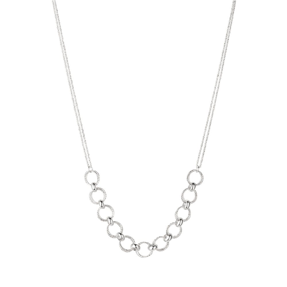 Links of London Aurora Silver Multi Link Necklace - Jewellery from ...