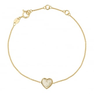 Ladies Diamond Essentials Gold Diamond Heart Bracelet 5010.2847