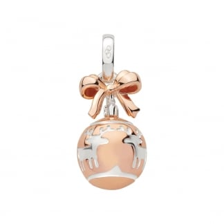 Festive Rose Gold Bauble Charm 5030.2544
