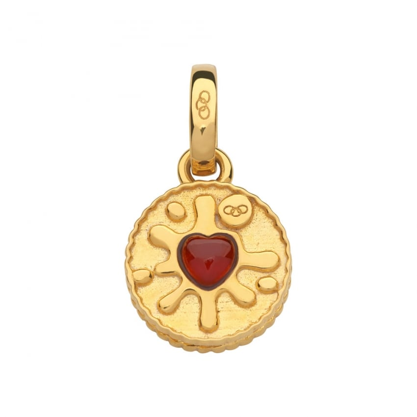 Links of London Garnet Gold Vermeil Jammie Dodger Biscuit Charm 5030.2535