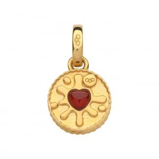 Garnet Gold Vermeil Jammie Dodger Biscuit Charm 5030.2535