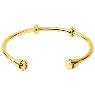 Ladies Large Amulet Gold Cuff Bangle 5010.3444