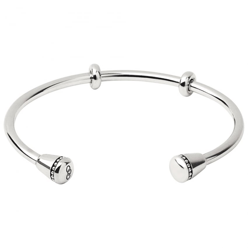 Links of London Ladies Large Amulet Silver Cuff Bangle 5010.3440