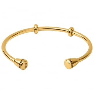Ladies Medium Amulet Gold Cuff Bangle 5010.3346