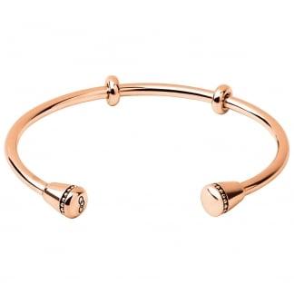 Ladies Medium Amulet Rose Gold Cuff Bangle 5010.3345