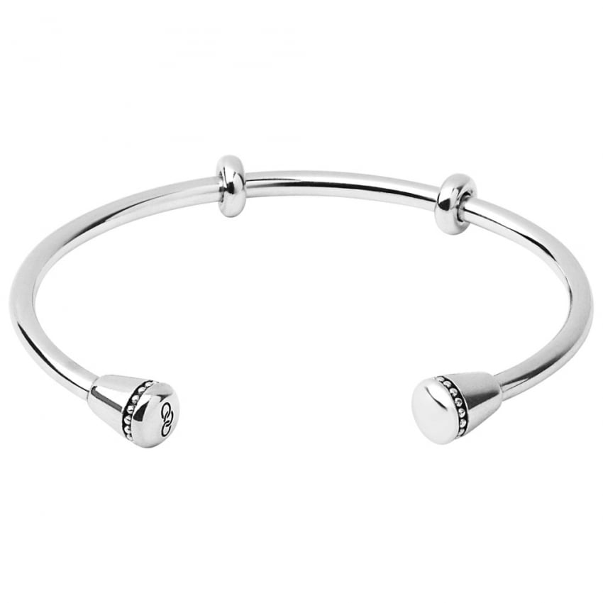 Links of London Ladies Medium Amulet Silver Cuff Bangle 5010.3344