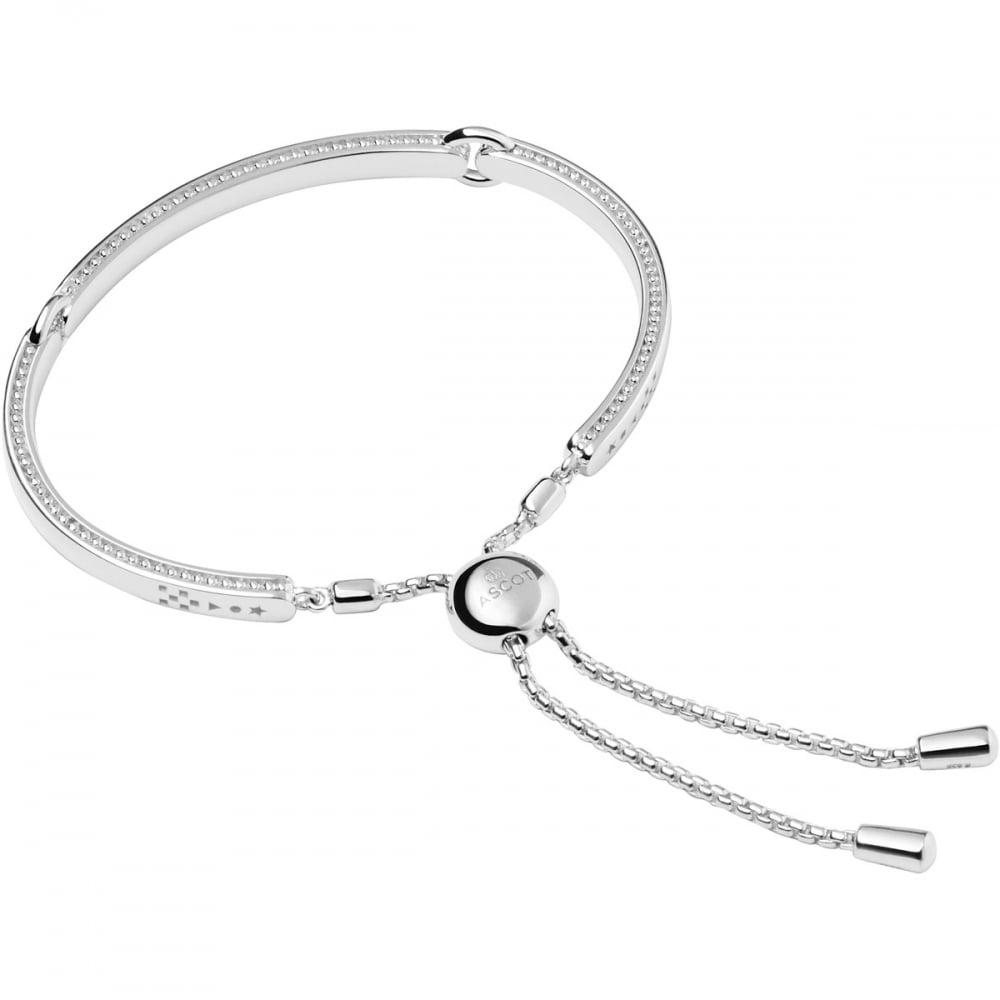 Venture mens black leather bracelet men bracelets links of london - Silver Narrative Ascot Bracelet