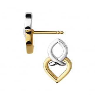 Ladies Two Tone Ininite Love Earrings