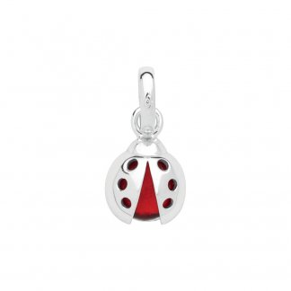 Lucky Ladybird Charm Sterling Silver & Glass
