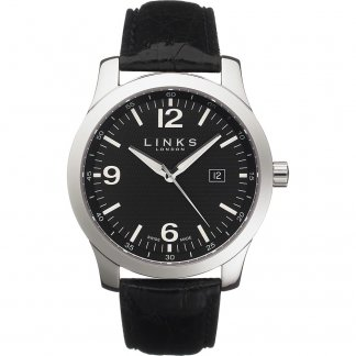 Men's Capital Crocodile Strap Swiss Watch