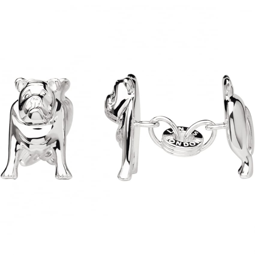 Links of London Men's Silver Bulldog Cufflinks 2516.0404