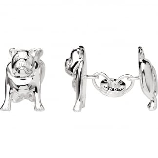 Men's Silver Bulldog Cufflinks