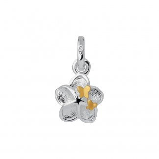 Mini Flower and Gold Butterfly Charm