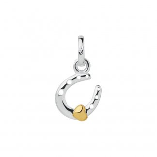 Mini Horseshoe and Gold Heart Charm