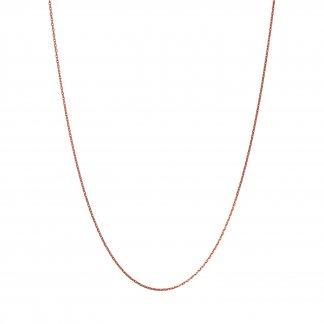 Rose Gold 50CM Diamond Cut Necklace