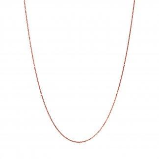 Rose Gold 50CM Diamond Cut Necklace 5022.0786