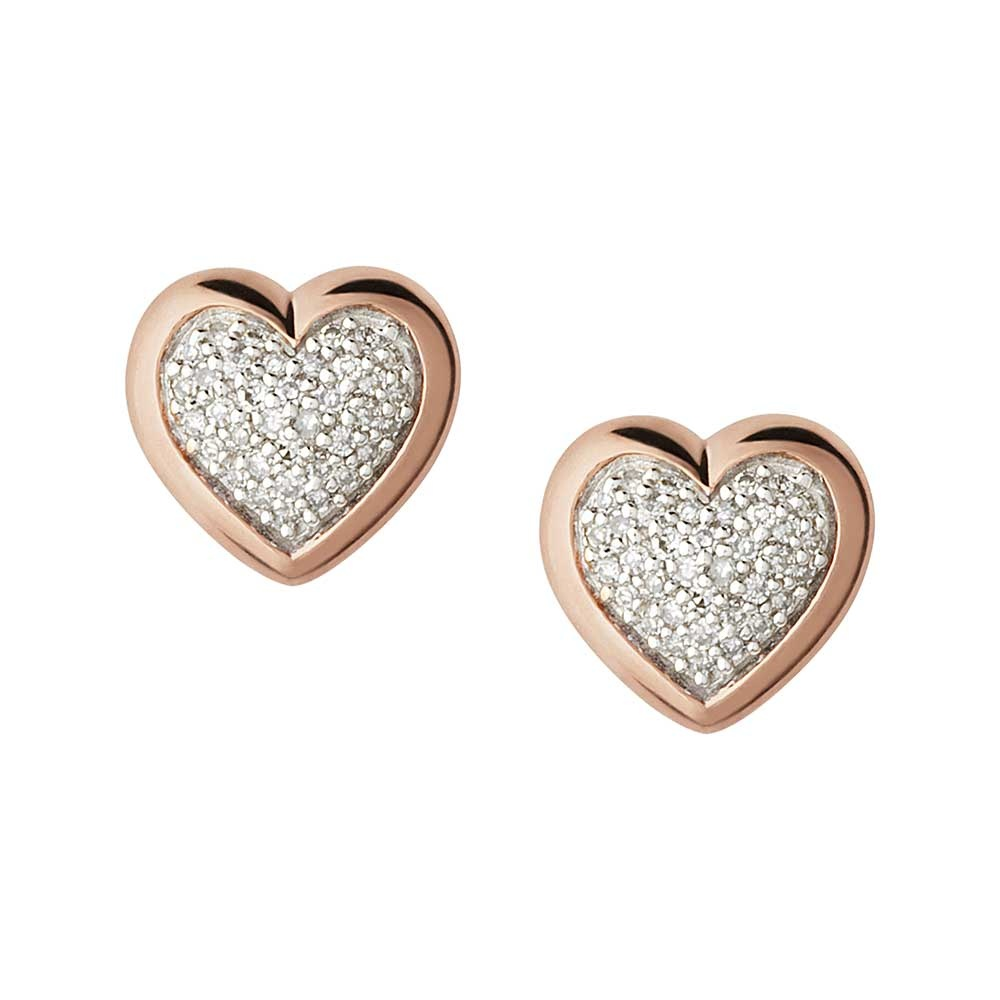 jewellery heart azendi stud earrings folded