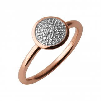 Diamond Essentials Rose Gold Pave Ring