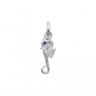 Seahorse Charm With Sapphire Eyes