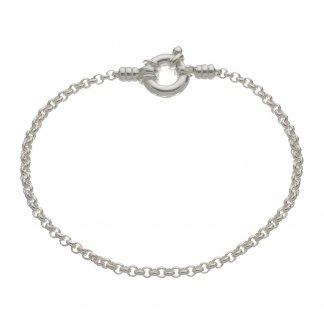 Silver 18CM Mini Belcher Bracelet 5010.0155