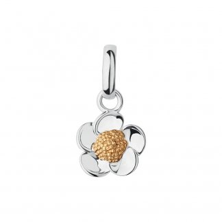 Silver and Gold Buttercup Charm