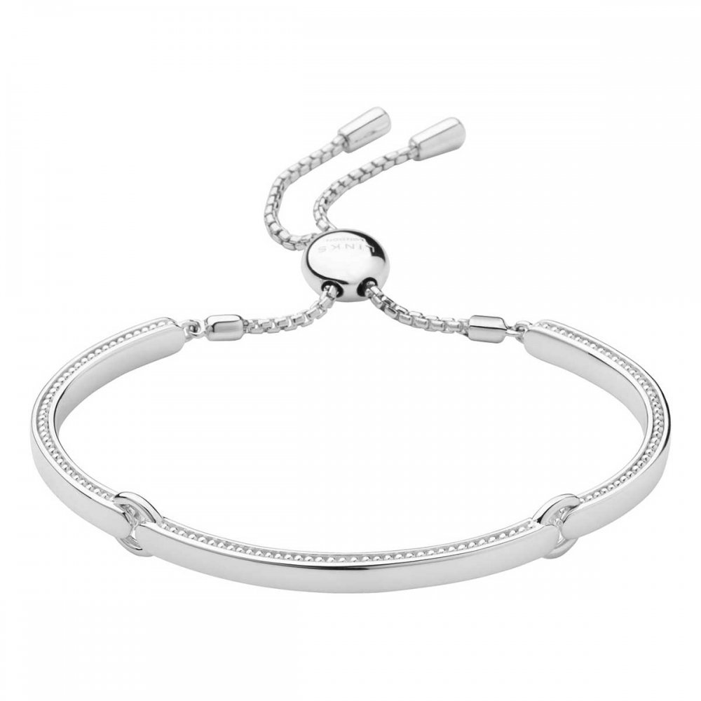 Venture mens black leather bracelet men bracelets links of london - Silver Articulated Narrative Bracelet Links Of London