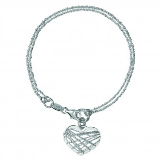 Silver Dream Catcher Heart Bracelet 5010.2722