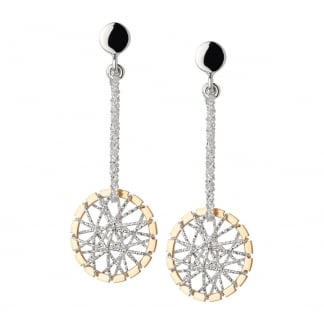 Silver & Rose Gold Dream Catcher Earrings