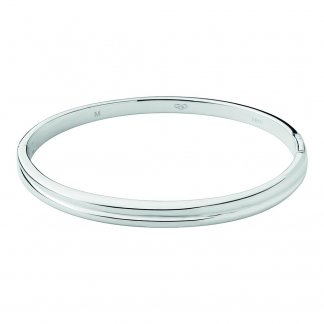 Sterling Silver Hope Hinged Bangle