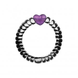 Sweetie Amethyst Candy Hearts Ring
