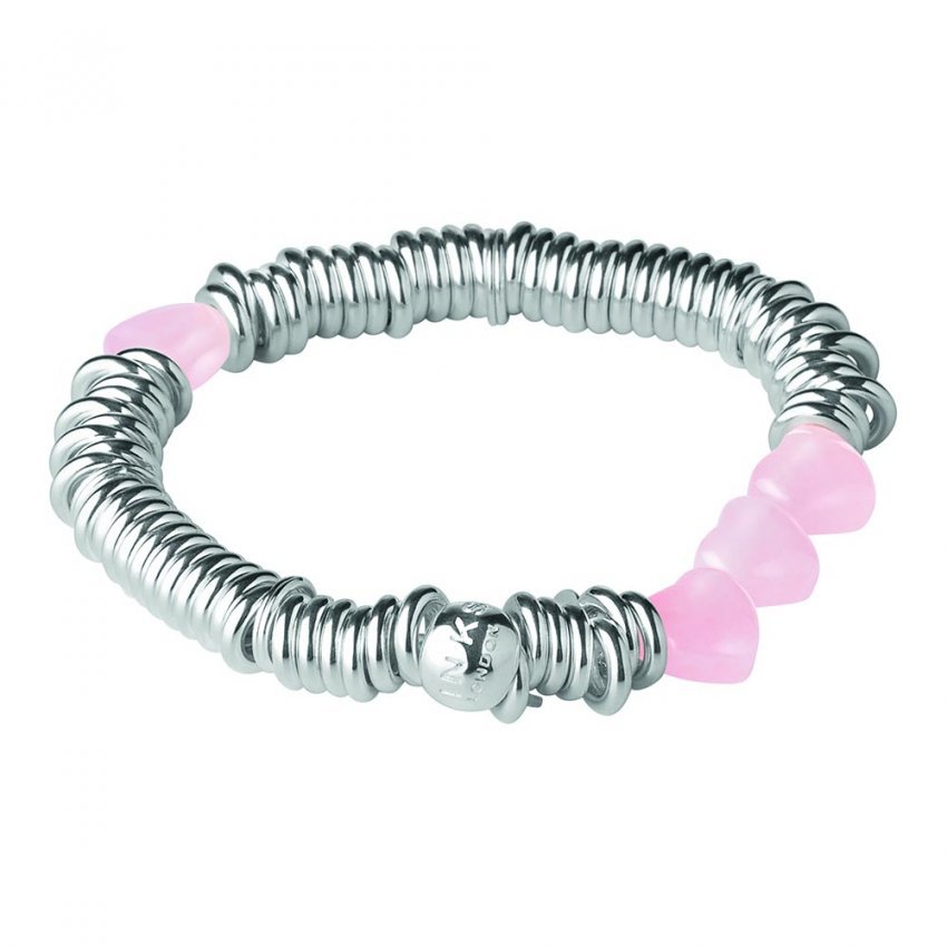 Links Of London Sweetie Rose Quartz Candy Hearts Bracelet