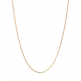 Yellow Gold 50CM Diamond Cut Necklace 5022.0785