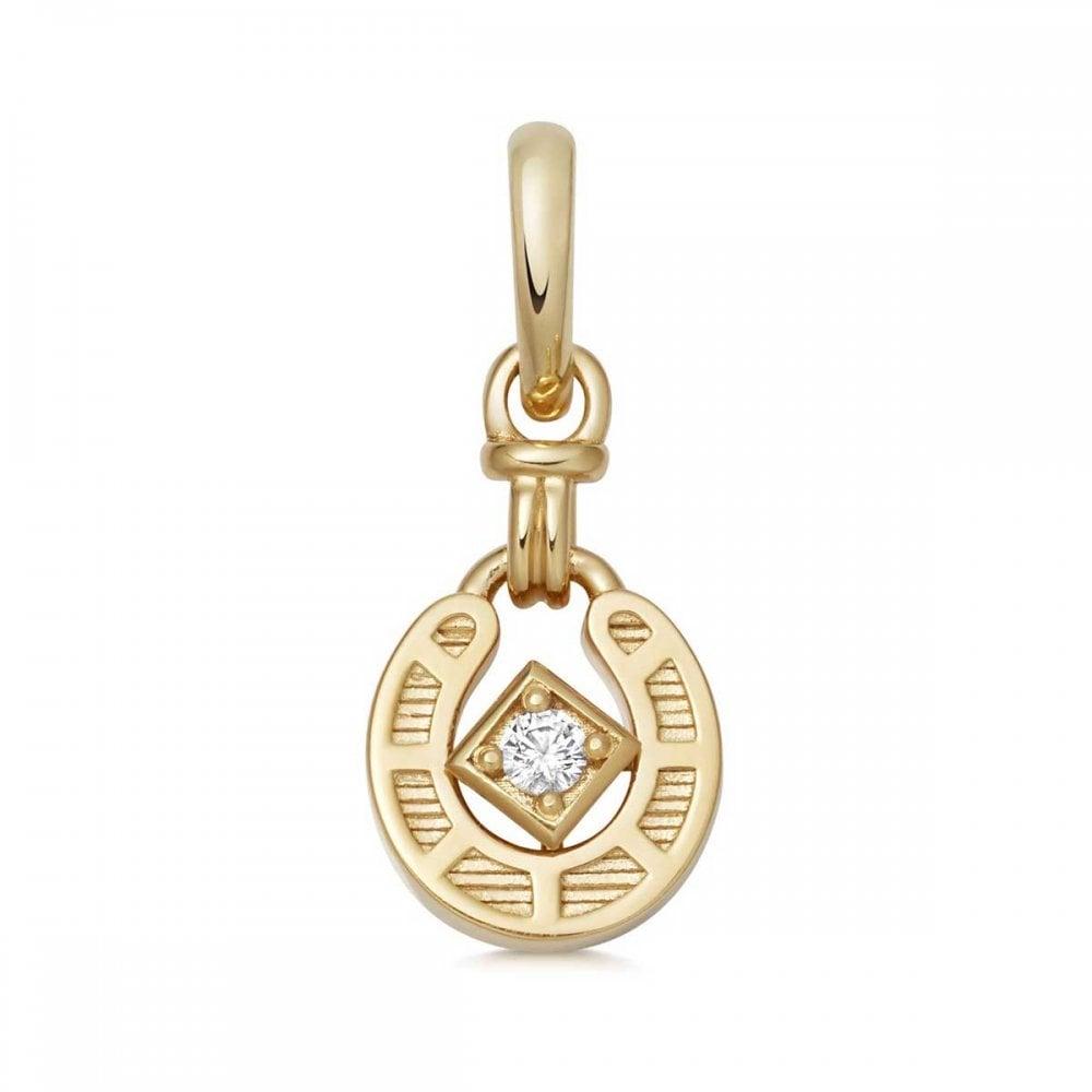 cf622bea92708 Links of London Yellow Gold Vermeil Ascot Horseshoe Charm