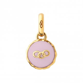 Yellow Gold Vermeil Strawberry Macaron Charm