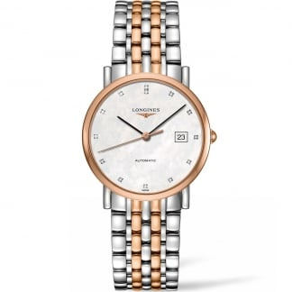 Elegant Automatic 34.5MM Two Tone Midsize Watch L4.809.5.87.7