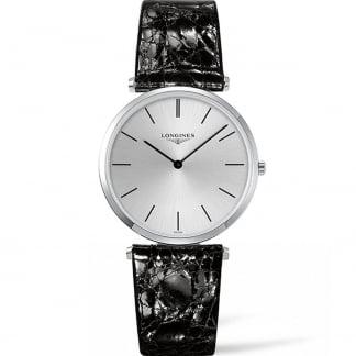 Gent's La Grande Classique Black Leather Quartz Watch L4.755.4.72.2