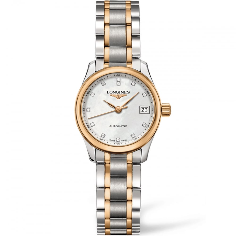 4e6a0f460 Longines Ladies Master Diamond Two Tone Automatic Watch Product Code:  L2.128.5.89.7