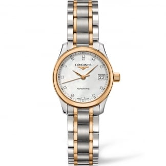 Ladies 25.5MM Two Tone Master Automatic Watch L2.128.5.89.7