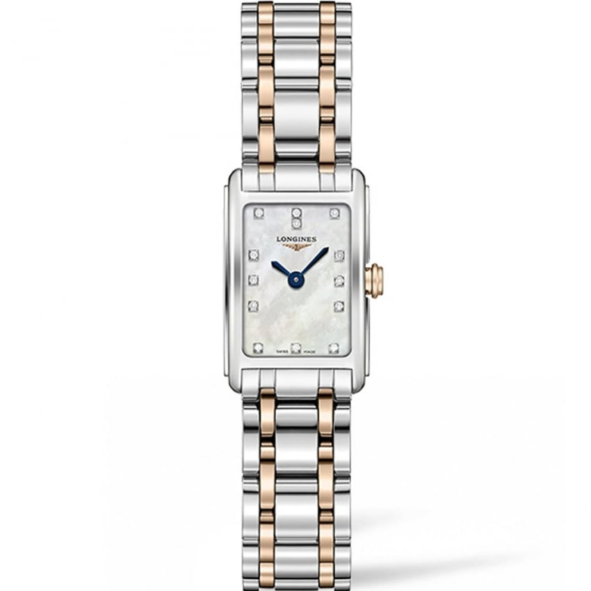 Longines Ladies Bi-Colour DolceVita Diamond MoP Watch L5.258.5.87.7