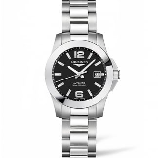Ladies Conquest 29.5MM Black Dial Automatic Watch