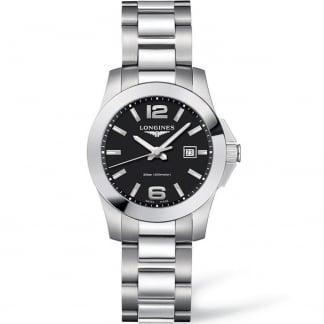 Ladies Conquest Quartz 29.5MM Black Dial Watch L3.376.4.58.6