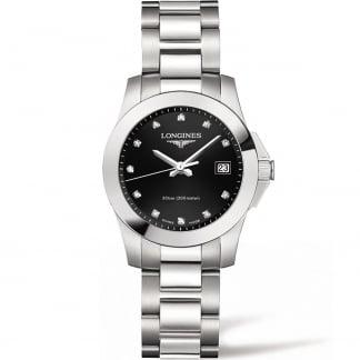 Ladies Conquest 29.5MM Diamond Quartz Watch L3.277.4.57.6