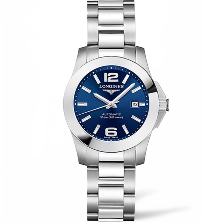 Longines Ladies Conquest 29mm Blue Dial Automatic Watch L3.276.4.99.6
