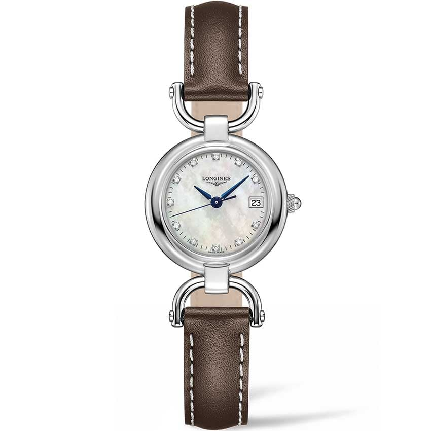Longines Ladies Diamond Equestrian Collection Watch With MOP Dial L6.130.4.87.2