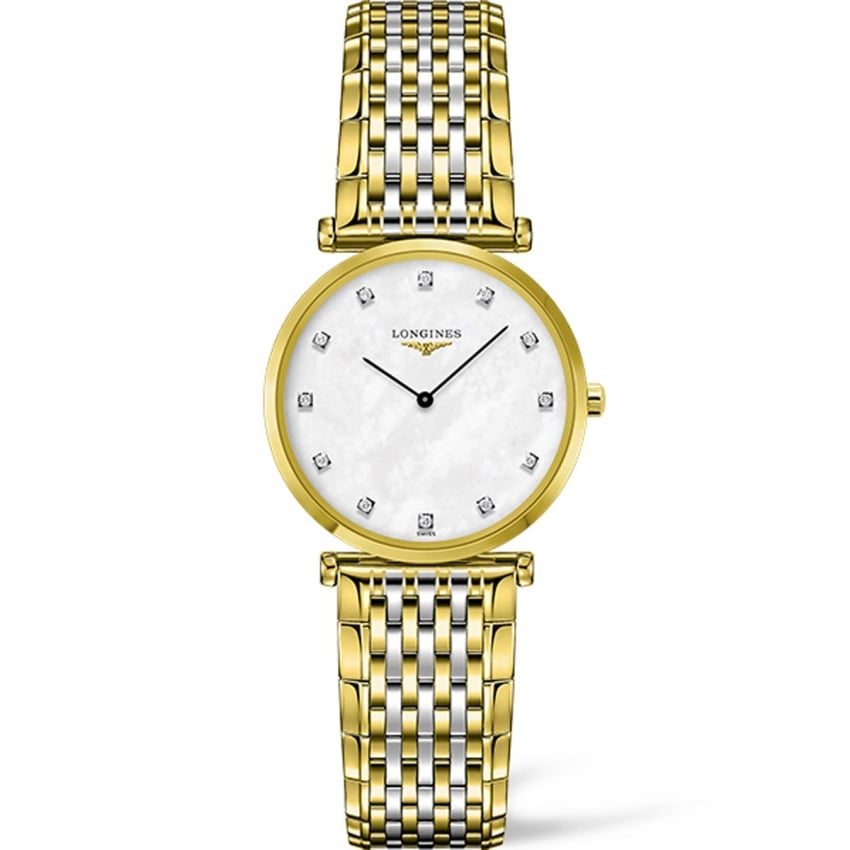 Longines Ladies Diamond Set La Grande Classique Steel & Gold Watch L4.512.2.87.7